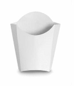 finished paper product fry container
